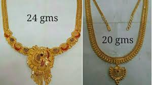 gold short chain necklace images Latest gold short necklaces designs with weight jpg