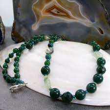 green agate necklace images Long green semi precious stone necklace agate necklace making a jpg