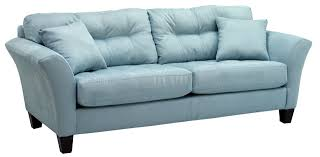 Modern Sofa And Loveseat Blue Fabric Modern Sofa Loveseat Set W Wood Legs