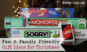 family friendly gift ideas the house