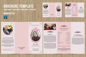 tri fold program trifold funeral program template on behance