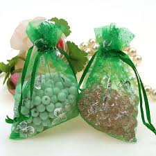 tulle bags online cheap butterfly green bronzing organza jewelry bags
