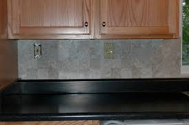 Vinyl Tile Backsplash Only This Part Is Done However Doe Flickr - Vinyl kitchen backsplash