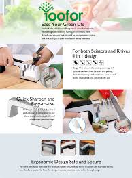 amazon com yoofor knife sharpener scissor professional 4 in 1