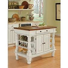 Kitchen Island Images Amazon Com Home Styles 5002 94 Kitchen Island White And