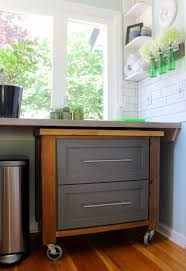 make a rolling kitchen island out of cabinets related to how to