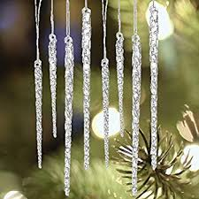 kurt adler glass icicle ornaments 12