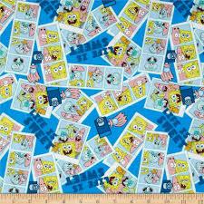 nickelodeon spongebob life is sweet blue discount designer nickelodeon spongebob life is sweet blue discount designer fabric fabric com