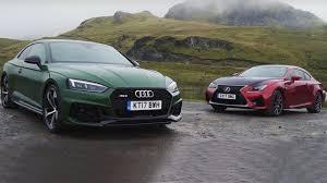 lexus rcf coupe top speed 2017 audi rs5 vs 2017 lexus rc f youtube