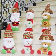 sitting santa claus snowman elk plush dolls tree