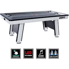 Air Hockey Table Dimensions by Espn Premium 84 Inch Air Powered Hockey Table With Led Touch
