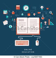 design online education vector flat design illustration concept for online education clip