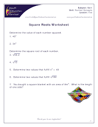 8 best images of square root worksheet printable square root