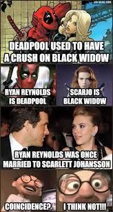Black Widow Meme - marvel being marvellous black widow deadpool and marvel