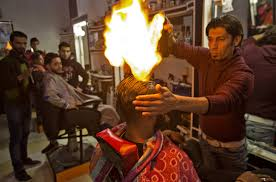how is this palestinian barber using fire to style hair al