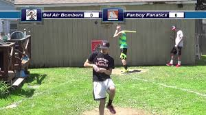 backyard wiffleball tournament game 1 bel air vs fanboy youtube