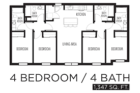 astounding 4 bedroom apartment 19 as well home design ideas with 4