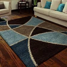 Blue Area Rugs Orian Rugs Geometric Divulge Multi Blue Area Rug 5 3