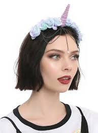 chain headband velvet unicorn applique forehead chain headband hot topic