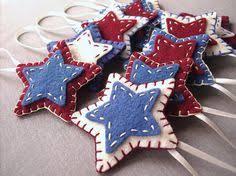 10 patriotic ornaments patriotic decor felt felt