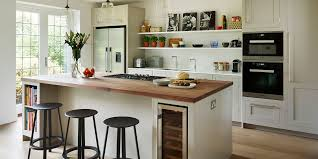 semi open plan shaker kitchen with island seating harvey blog