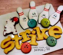 halloween cookie delivery cute sugar cookie royal icing decorating idea bowling sugar