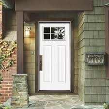 Jeld Wen Interior Doors Home Depot by Jeld Wen 30 In X 80 In 6 Lite Craftsman Primed Steel Prehung