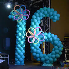 party blitz balloon decorations number letter and logo designs