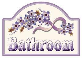 artbyjean purple wood roses bathroom sign clip art prints for