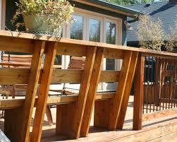 cedar deck bench houzz
