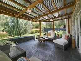 standing seam metal porch roof home design ideas