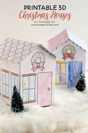 christmas houses printable 3d christmas houses great for kids make it and
