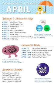 april 2016 holidays observances and awareness dates