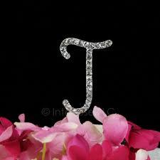 letter cake topper rhinestone j cake topper 2 inch monogram letter