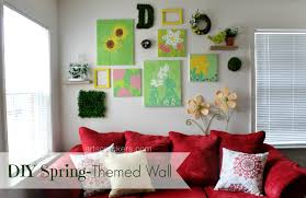 Picture Wall Collage by Diy Spring Themed Wall Collage