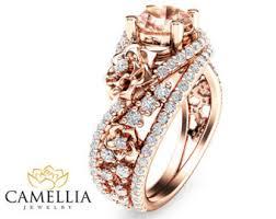 morganite engagement ring gold gold morganite filigree engagement ring 14k gold