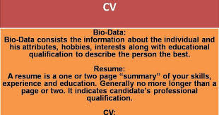 cv vs resume the differences what is cv in resume paso evolist co