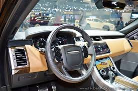 range rover steering wheel 2018 range rover sport at dubai motor show 2017 steering wheel