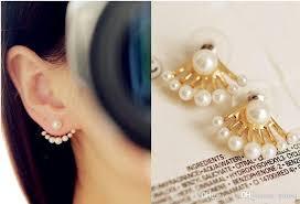 back stud earrings online cheap s fashion womens jewellery chic pearl ear back