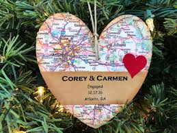 Christmas Ornament Wedding Gift Personalized Engagement Ornament Newly Engaged Ornament