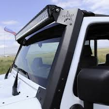 jeep jk light bar brackets rockslide engineering jeep wrangler jk upper windshield mount for 50
