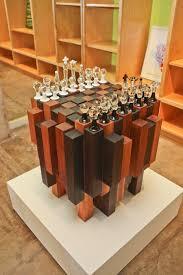 Buy Chess Set by Custom Chess Board Zollie Glass Studio