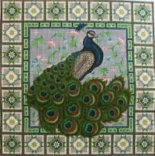 peacock needlepoint canvas past times needlepoint