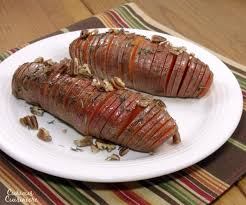 hasselback sweet potatoes curious cuisiniere