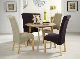 Aubergine Dining Chairs Serene Kingston Dining Chair In Aubergine Plain With Oak Legs Pair