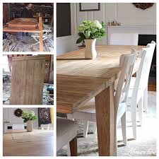 diy farmhouse table restoration hardware inspired farmhouse