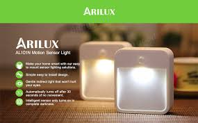 battery powered motion detector light arilux al101n battery powered wireless pir motion sensor led night