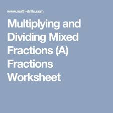 the 25 best dividing mixed fractions ideas on pinterest