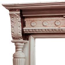 Antiques Decorative Amazing Antique Decorative Walnut Fireplace Mantel C 1860 Nfpm31