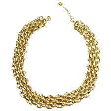 gold necklace vintage images Vintage 1960s christian dior germany gold plated necklace for sale jpg